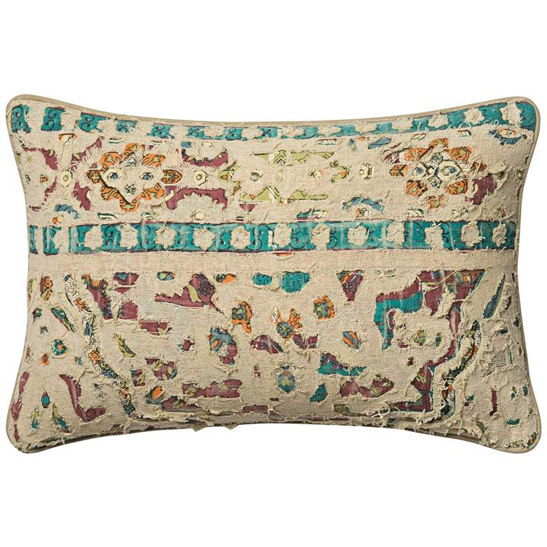 """Global Traveler Multicolor 21"""" x 13"""" Accent Pillow"""