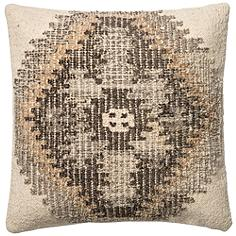 "Global Traveler Ivory Tribal 22"" Square Accent Pillow"