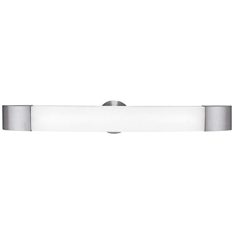 """Aspen 29 1/2"""" Wide Brushed Steel LED Bath"""