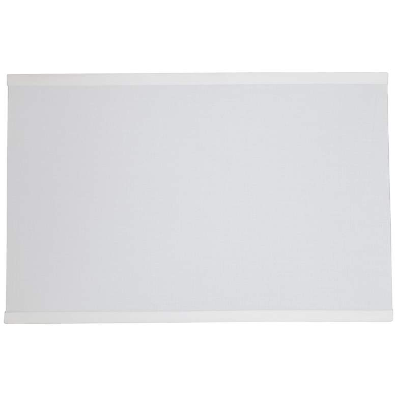 12H49 - Off-White Shantung Rectangular Lamp Shade