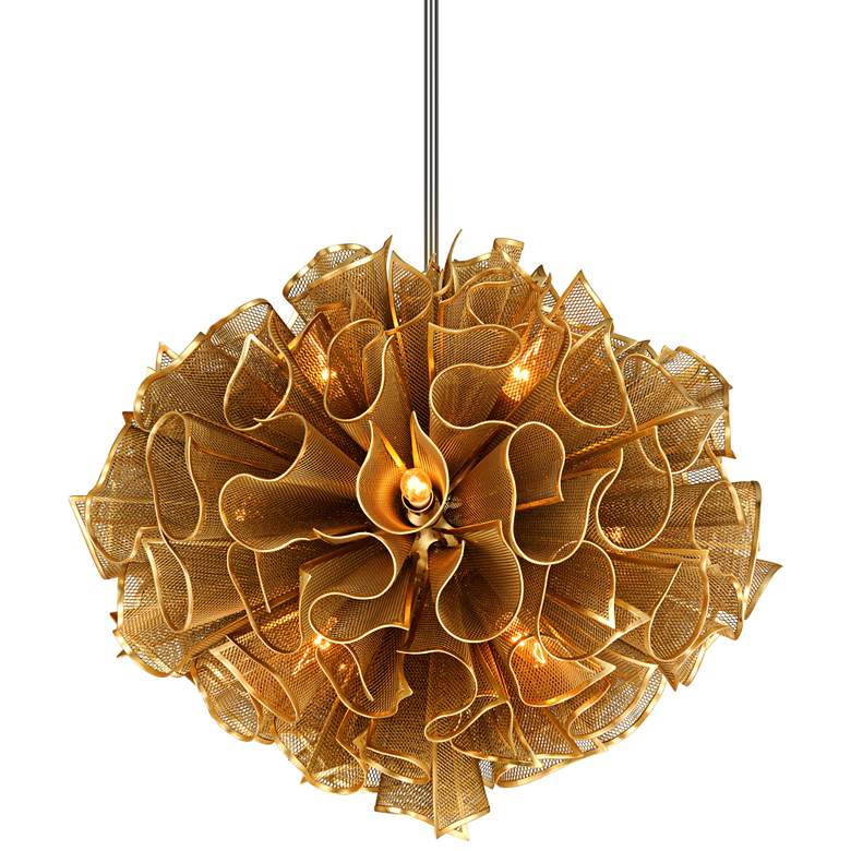 "Corbett Pulse 30 1/2"" Wide Gold Leaf Pendant Light"