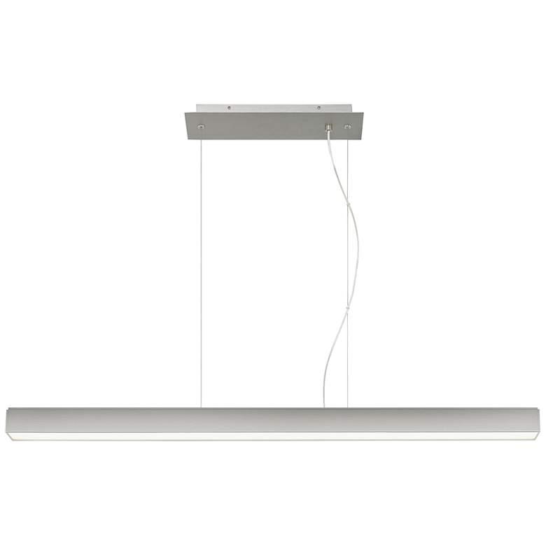 "Knox 45 1/4""W Satin Nickel LED Kitchen Island Light Pendant"