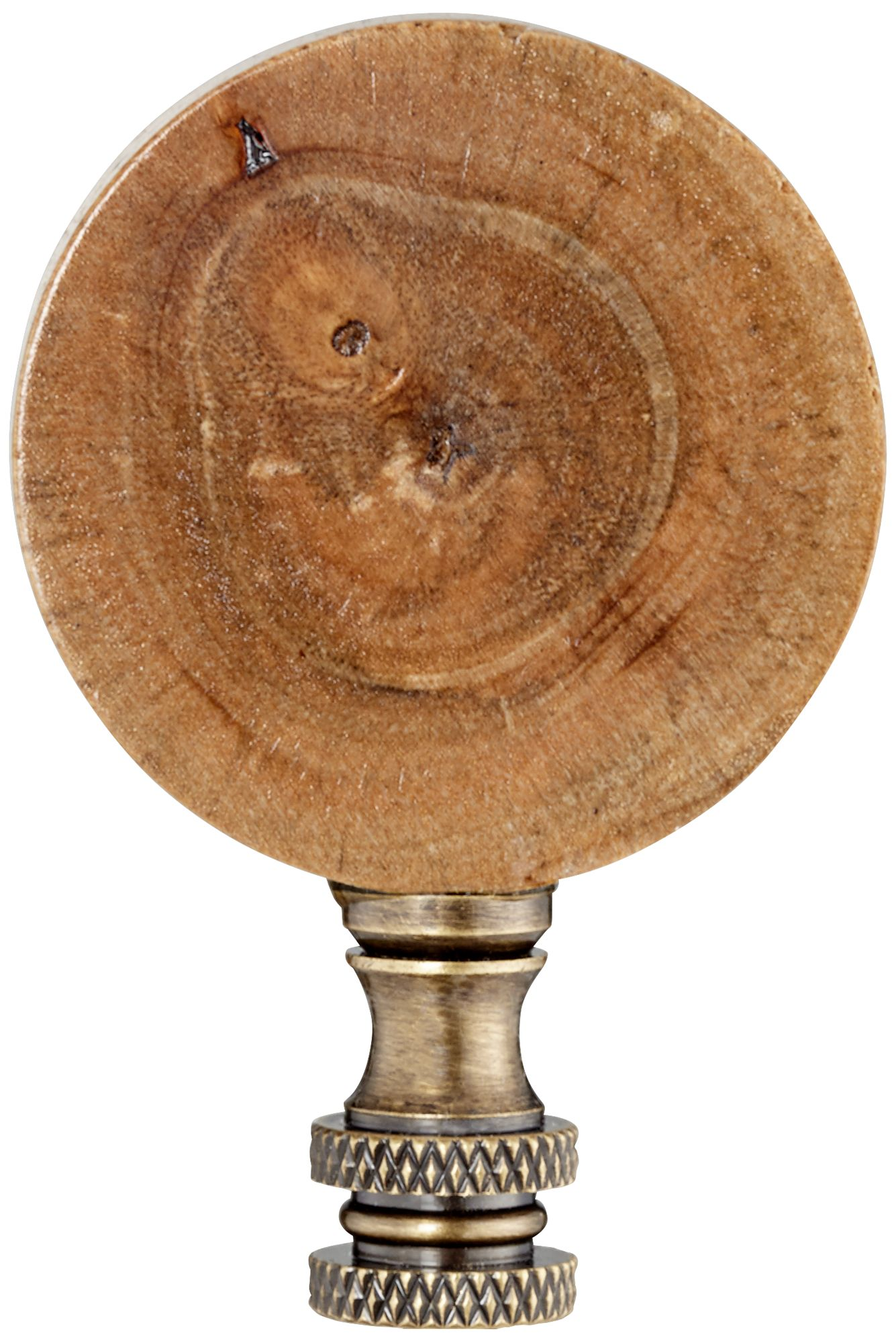 Cross Section Wood Lamp Shade Finial