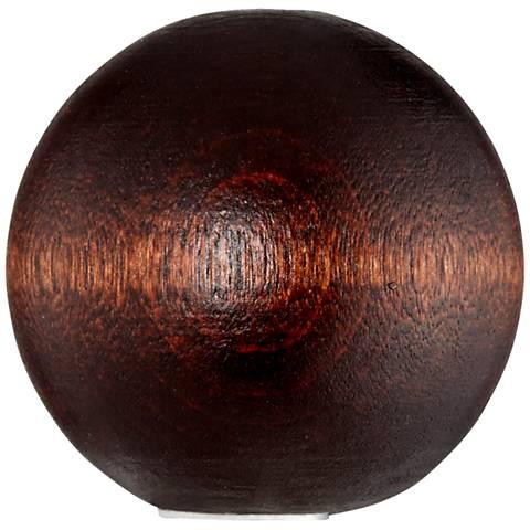 Mahogany Wood Ball Lamp Shade Finial