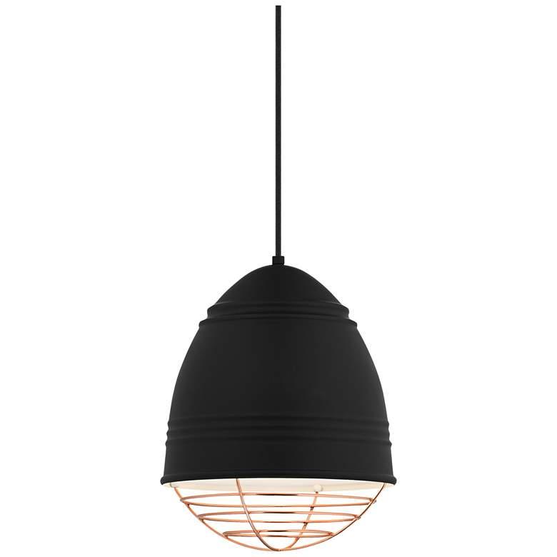"""Loft 11 3/4"""" Wide Rubberized Black LED Mini Pendant"""