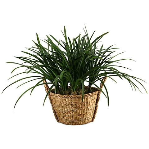 """Green Areca Grass 36"""" Wide Faux Plant"""