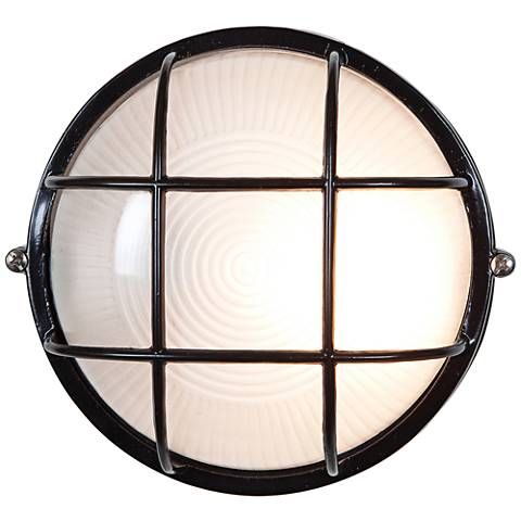 "Nauticus 7"" High Black LED Outdoor Wall Light"