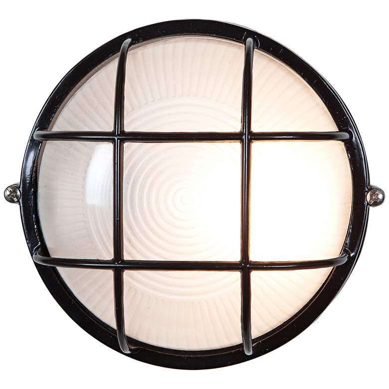 """Nauticus 9 1/2"""" High Black LED Outdoor Wall"""