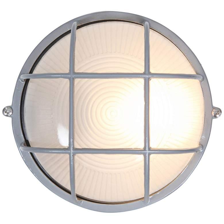 "Nauticus 7"" High Satin Modern Industrial Outdoor Wall Light"