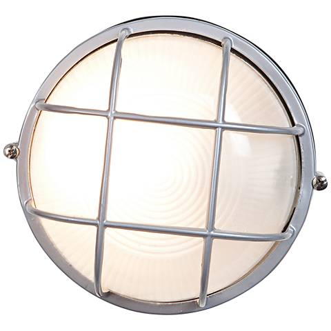 "Nauticus 9 1/2"" High Satin Nickel LED Outdoor Wall Light"