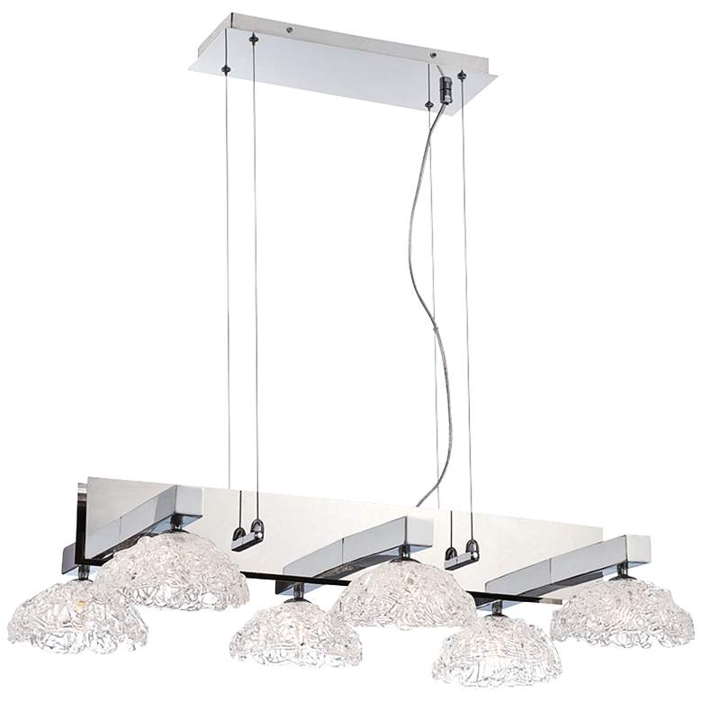 "Caramico 29 3/4"" Wide Chrome Kitchen Island Light Chandelier"