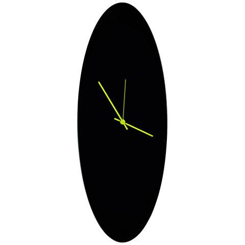 """Blackout Green 22"""" High Aluminum Ellipse Wall Clock"""