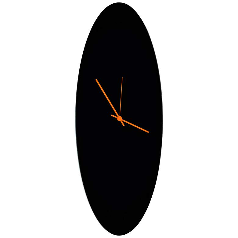 "Blackout Orange 22"" High Aluminum Ellipse Wall Clock"