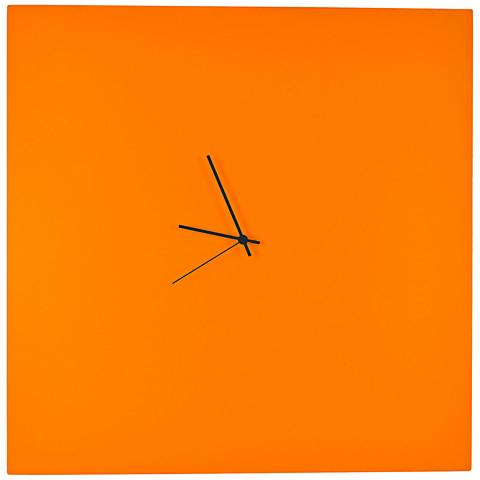 "Orangeout Aluminum with Black Hands 23"" Square Wall Clock"