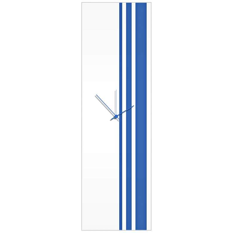 "Triple Stripe Gloss Blue 30"" High Rectangular Wall"