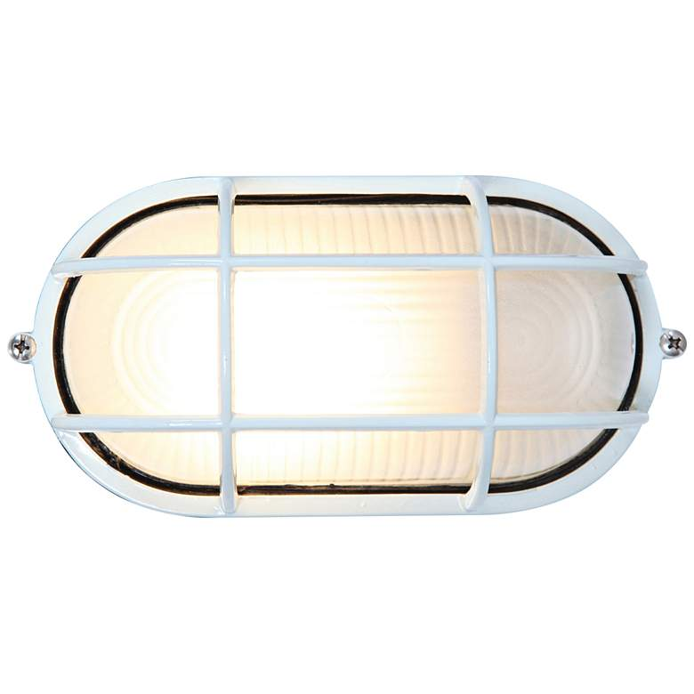 """Nauticus 4 1/4"""" High White LED Outdoor Wall"""