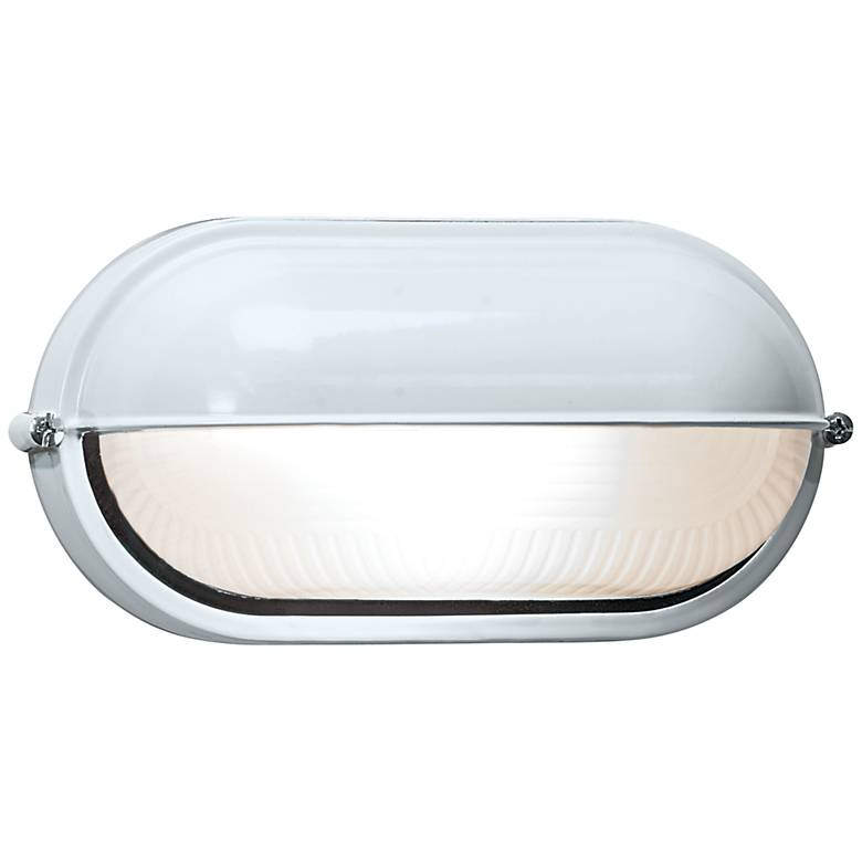 """Nauticus 4 1/4"""" High Shaded White LED Outdoor Wall Light"""