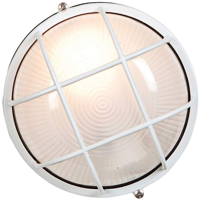 "Nauticus 7"" High White Industrial Outdoor Wall Light"