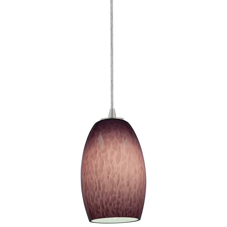 "Chianti 4 3/4"" Wide Purple Cloud Glass LED Mini Pendant"