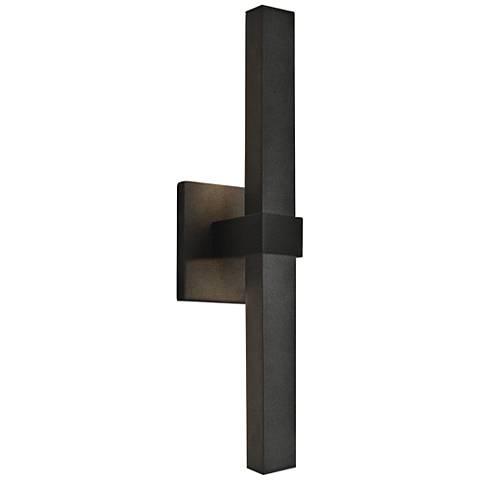 """Vertical 17 1/2"""" High Bronze 2-LED Outdoor Wall Light"""