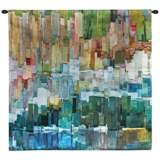 """Glacier Bay III 53"""" Square Abstract-Modern Wall Tapestry"""