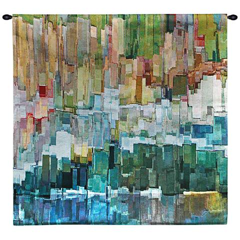 "Glacier Bay III 53"" Square Abstract-Modern Wall Tapestry"