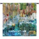 """Glacier Bay III 44"""" Square Abstract-Modern Wall Tapestry"""