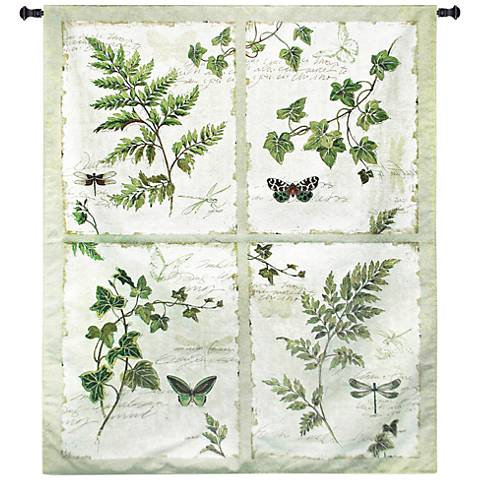 "Ivies and Ferns 63 1/2""H 4-in-1 Botanical Wall Tapestry"