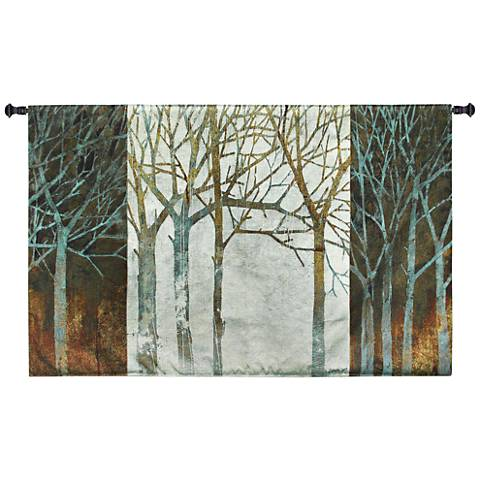 "Night and Day 52""W Modern Landscape Textile Wall Tapestry"