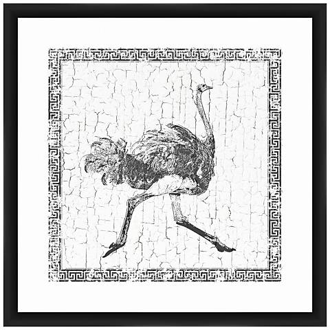 "Ostrich 22"" Square Framed Giclee Wall Art"