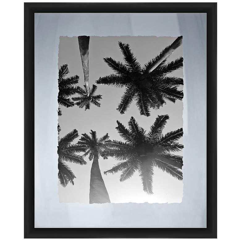 """Palms 22"""" High Framed Giclee Wall Art"""