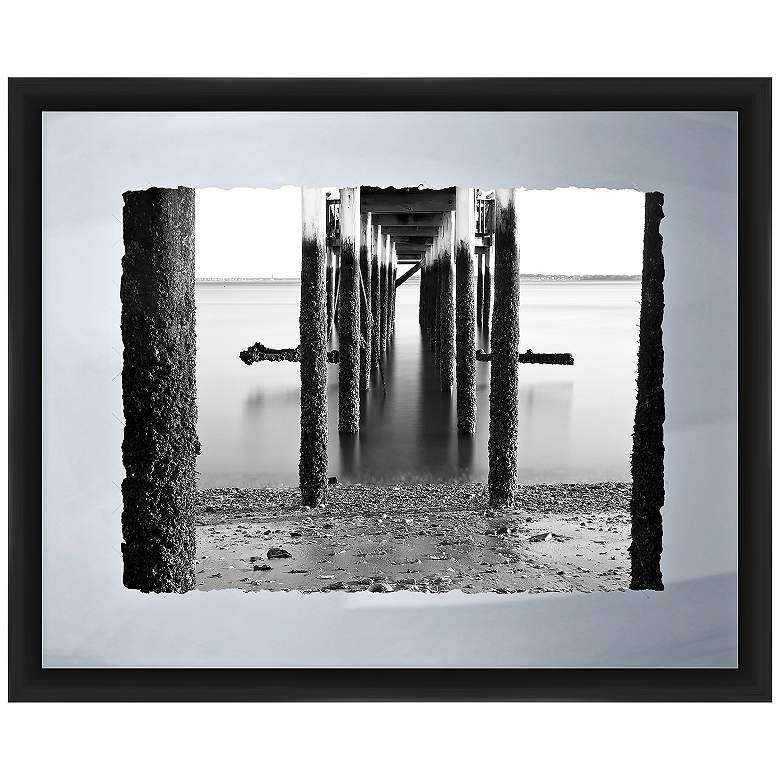 "Under The Pier I 22"" Wide Framed Giclee Wall Art"