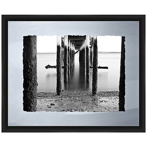 "Under The Pier I 22"" Wide Framed Giclee Wall Art"