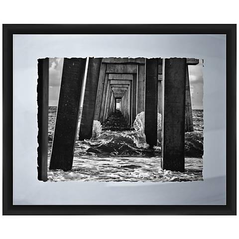 "Under The Pier II 22"" Wide Framed Giclee Wall Art"