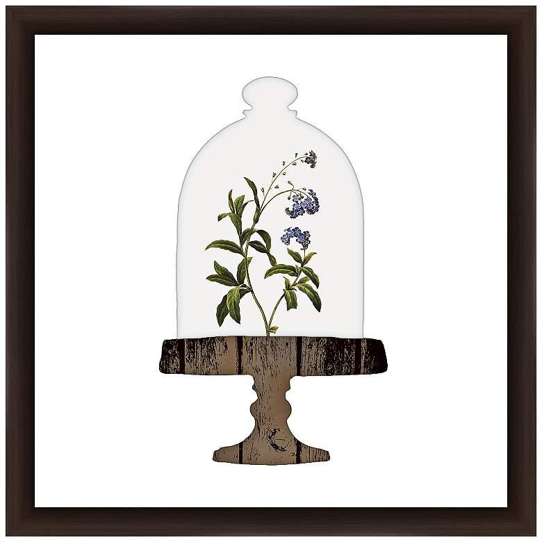 """Floral Bell Jar II 18"""" Square Framed Giclee"""