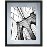 """View From The Bridge 22"""" High Framed Giclee Wall Art"""