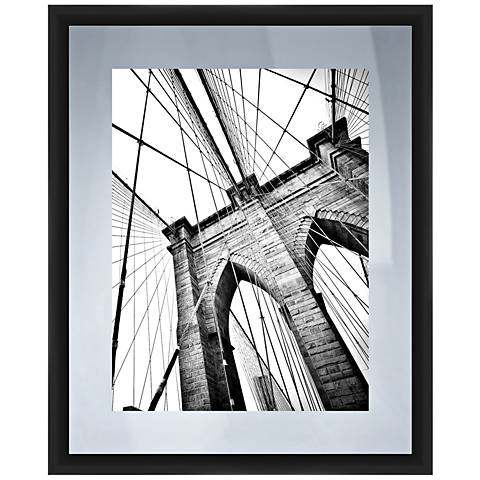"View From The Bridge 22"" High Framed Giclee Wall Art"