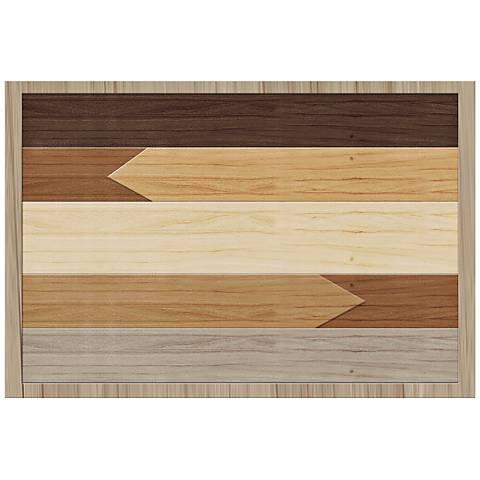 "Boho Wood 26"" Wide Framed Giclee Wall Art"