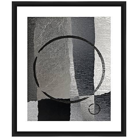 "Circular Gray I 26"" High Framed Giclee Wall Art"