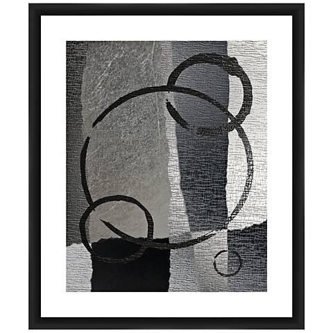 "Circular Gray II 26"" High Framed Giclee Wall Art"