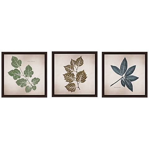 "Leave 14"" Square 3-Piece Framed Giclee Wall Art Set"