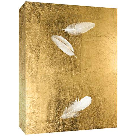 """Feathers in Gold II 20"""" High Canvas Wall Art"""