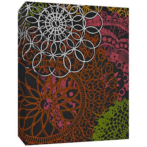 """Red Flower Power 24"""" High Canvas Wall Art"""