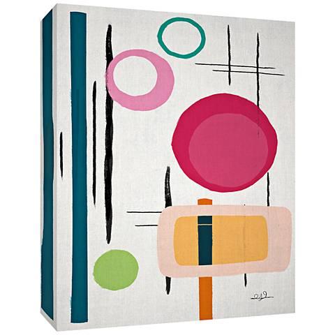 "Pastel Geometric II 24"" High Canvas Wall Art"