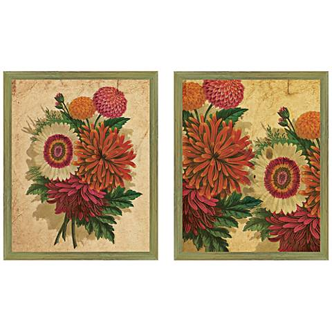"Spring 20"" High 2-Piece Framed Giclee Wall Art Set"