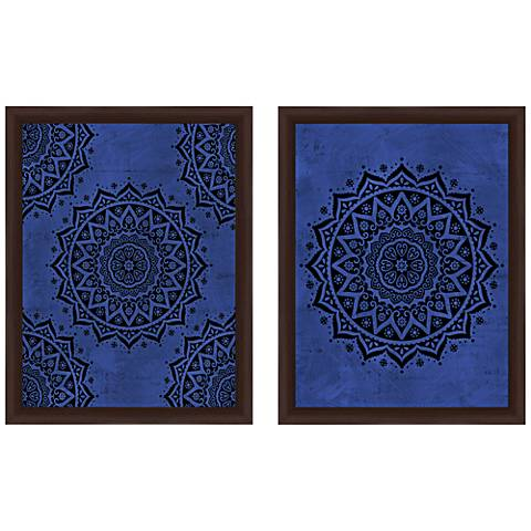 "Boho Patterns 18"" High 2-Piece Framed Giclee Wall Art Set"