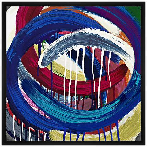 "Abstract Swirls 30"" Square Canvas Wall Art"