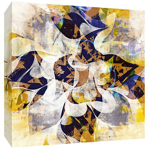 """Blue and Yellow Dreaming 30"""" Square Canvas Wall Art"""