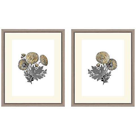 """Botanical 22"""" High 2-Piece Framed Giclee Wall Art Set"""