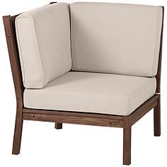 Sonoma Dark Natural Acacia Wood Corner Chair